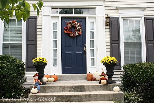 A Simple Fall House Update How To Paint An Exterior Door Home