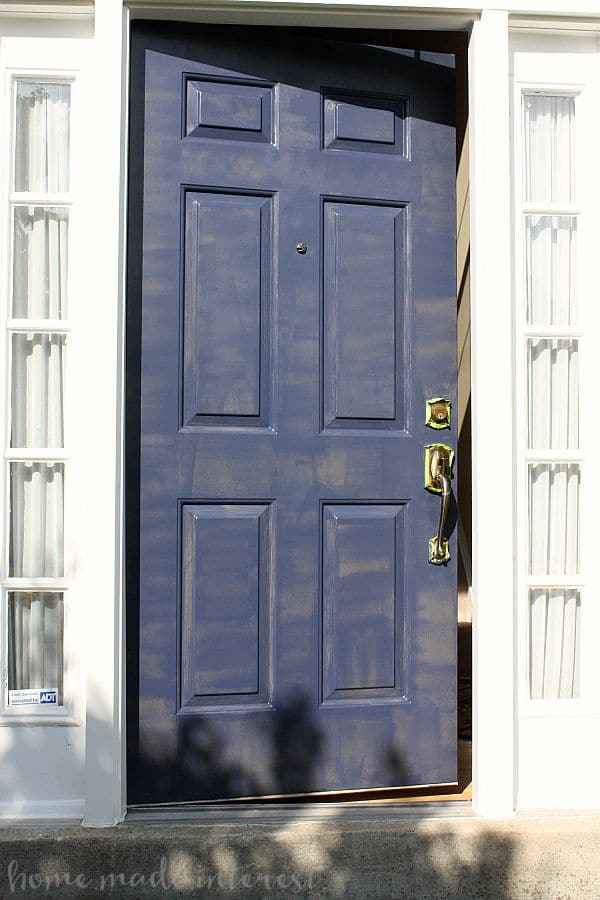 A Simple Fall House Update - How to Paint an Exterior Door - Home ...