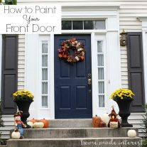 Painting an exterior door can be intimidating. I recently painted mine and I have a few tips on how to paint your front door.