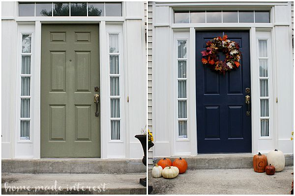 Painted Front Door a simple fall house update - how to paint an exterior door - home
