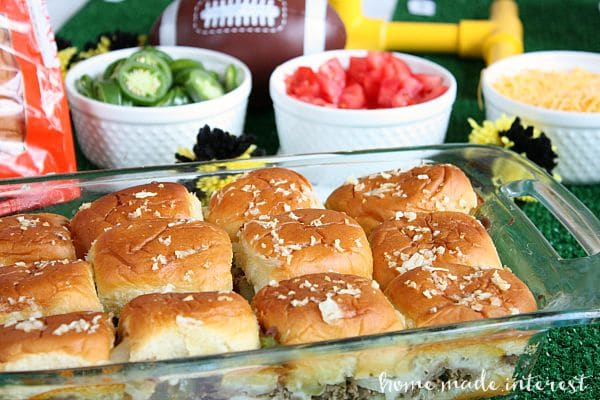 These sliders make great party food, especially during football season. Make everyone happy at your next game day party with Philly Cheesesteak sliders!