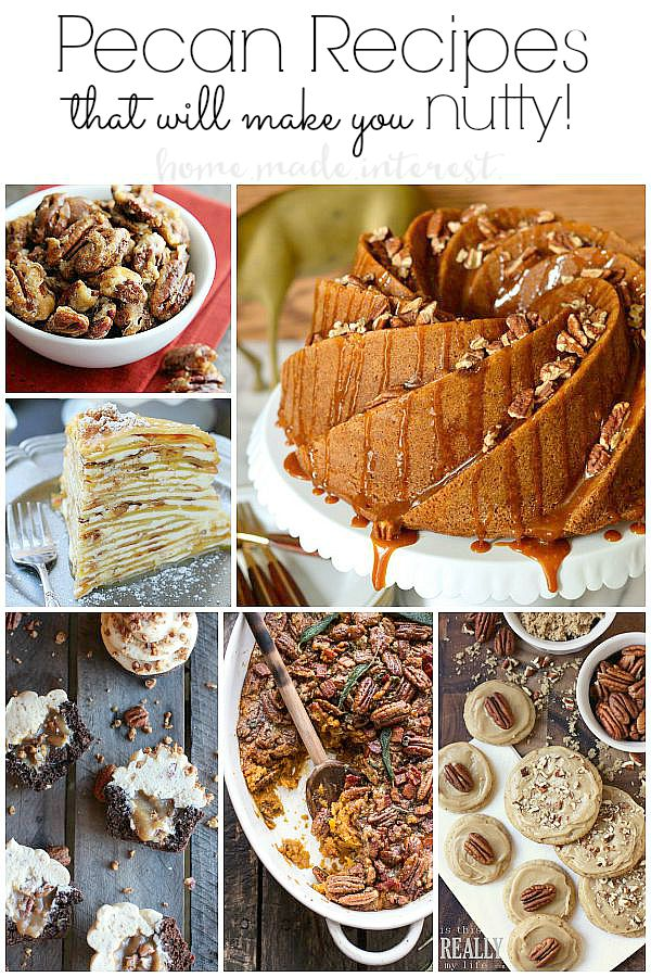 Fall & Winter time is perfect for loading up on your favorite nut recipes! Mine is Pecans of course. These savory & sweet pecan recipes will kick off the holidays with the family.
