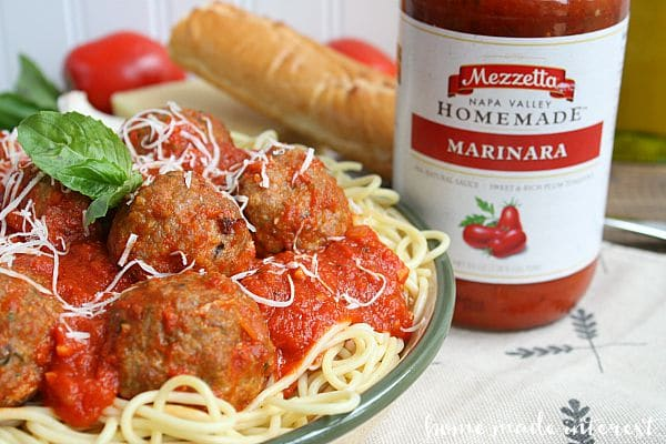 e've lightened up our meatballs with lean ground turkey and lean turkey sausage and we've topped it with a delicious marinara sauce.