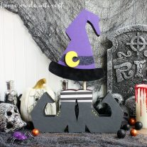 This Wicked Witch Halloween decoration is a simple Halloween craft that the kids will love helping with.