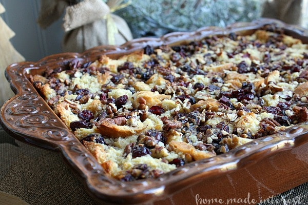 A dairy free holiday dessert packed full of cranberries and nuts for your lactose intolerant guest can enjoy. Same great flavor just dairy free.