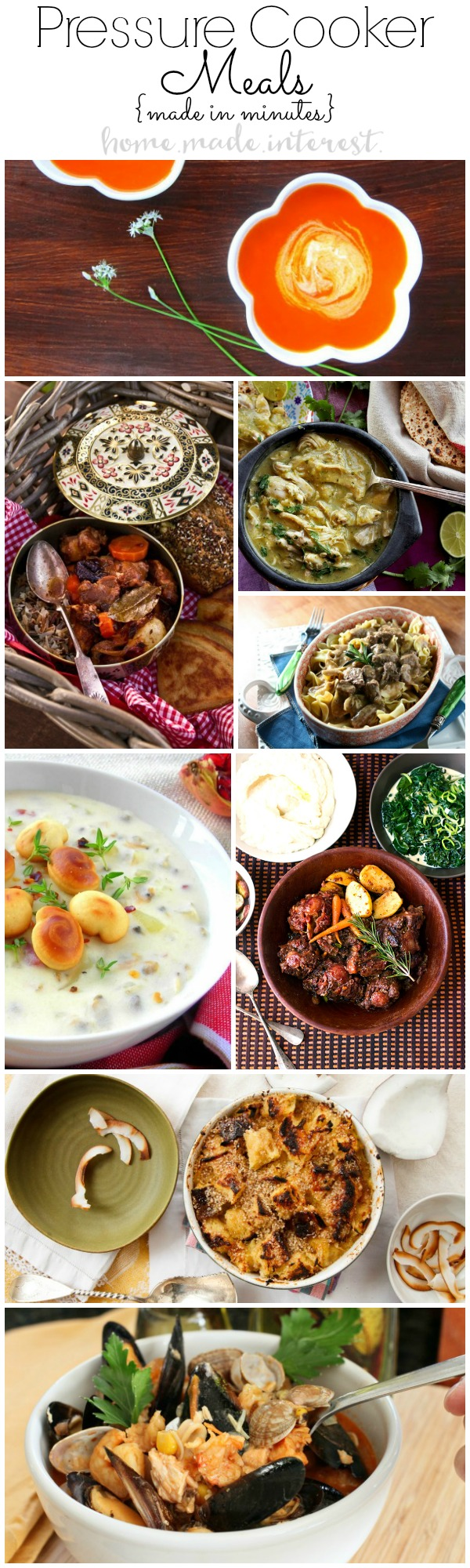 Have weeknight meals made in minutes by using a pressure cooker. These quick and easy one pot recipes use a pressure cooker to make cooking dinner a breeze.
