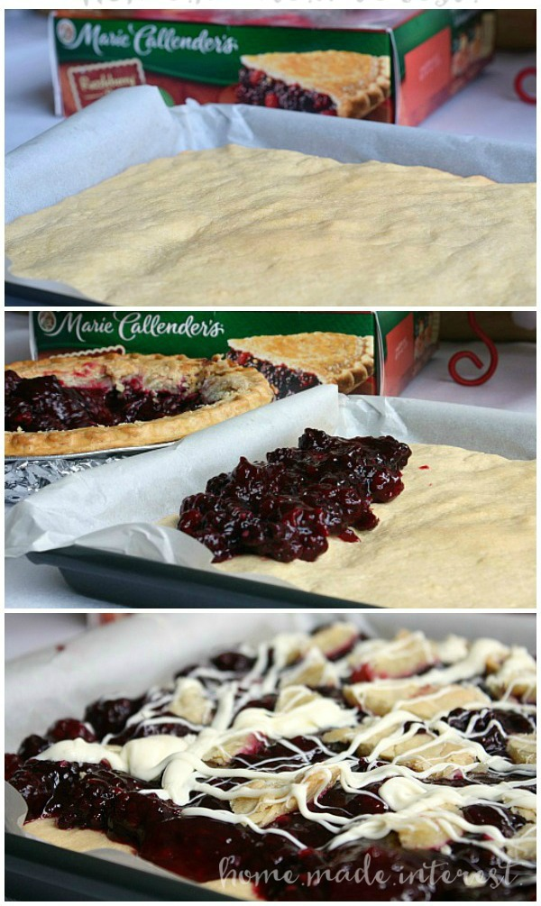 These razzleberry shortbread bars are an easy way to turn pie into a cookie!