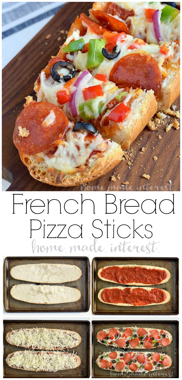 French bread pizza sticks home made interest french bread pizza sticks make your french bread pizza with all of your favorite toppings solutioingenieria Choice Image
