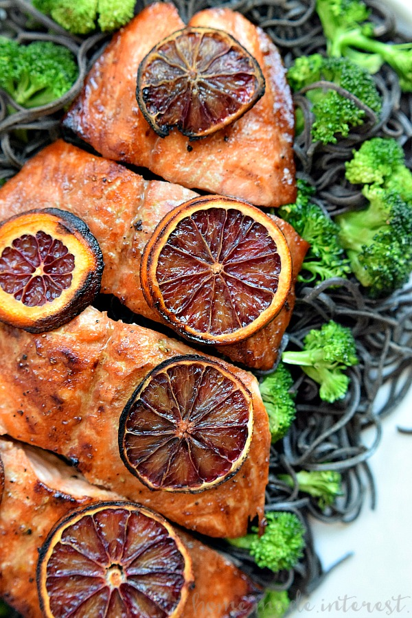 Blood Orange Glazed Salmon - Home. Made. Interest.