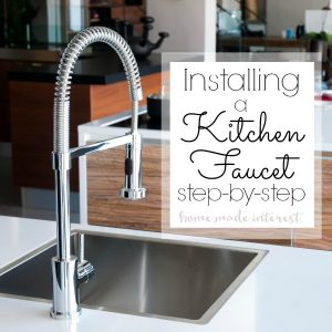 A simple DIY tutorial on how to install a kitchen faucet. Whether you are going through a kitchen remodel or just replacing an old faucet this is a home improvement DIY that anyone can do.