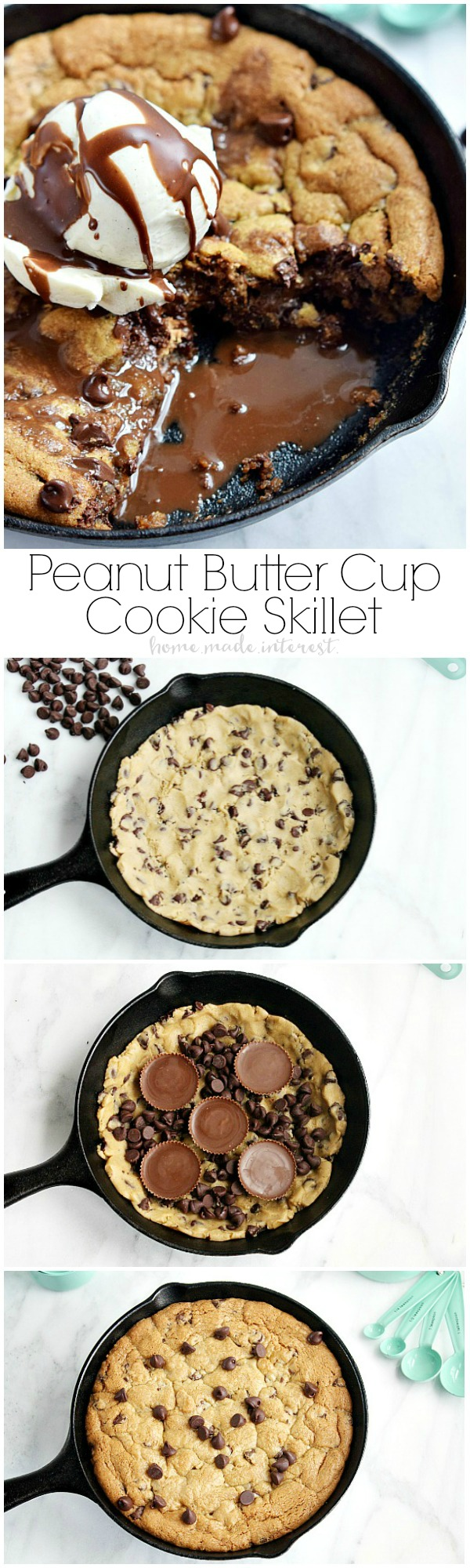 Peanut Butter Cup Skillet Cookie - Home. Made. Interest.