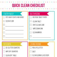 We've got tips and tricks for getting your cleaning done in no time! Whether you are Spring cleaning in between running the kids to and from school and baseball practice or looking for a cleaning checklist to help you get the house ready for guests this quick cleaning checklist is gonna be a lifesaver.