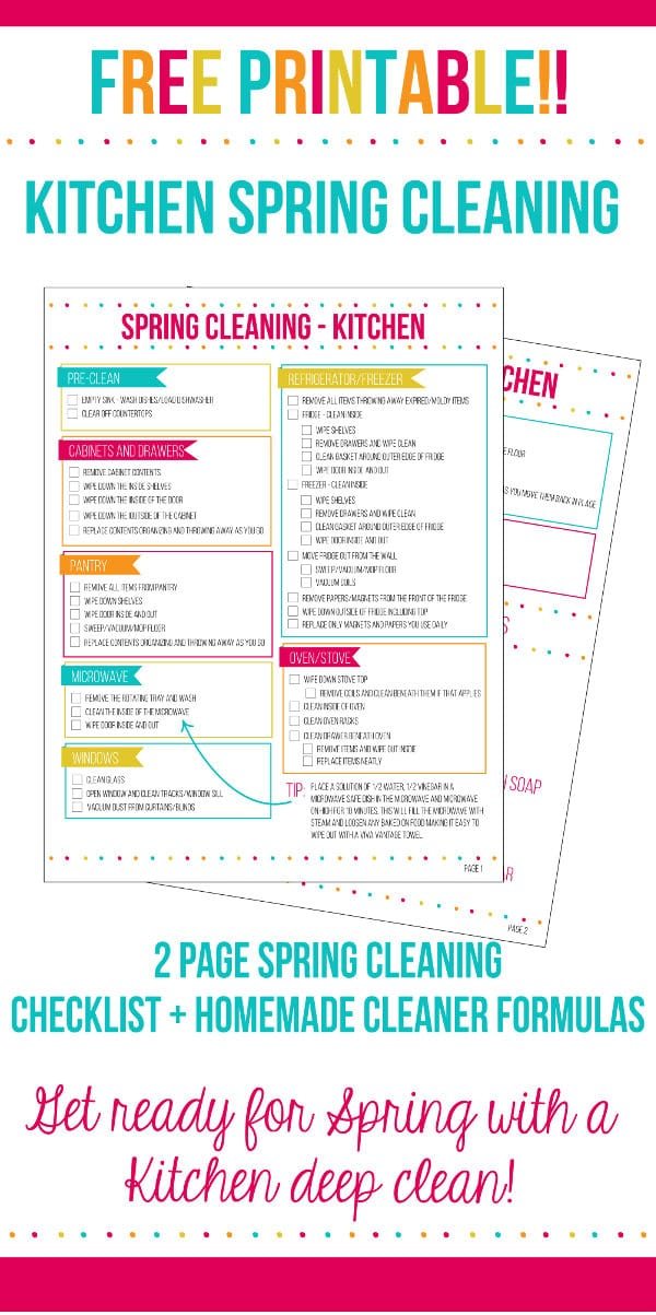 Spring Cleaning Checklist kitchen spring cleaning checklist - home. made. interest.