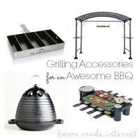 Grill Accessories for an Awesome BBQ for the grill master in your life. Perfect for Father's Day gift if he loves to grill. Any grilling lover will appreciate these gift ideas. Great summer hostess gifts too.