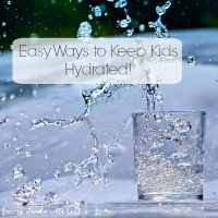 Keeping your kids hydrated is super important but it isn't always easy. I've got a few easy ways you can get your kids to drink water. It is a great way to help kids build healthy habits that will last a lifetime!