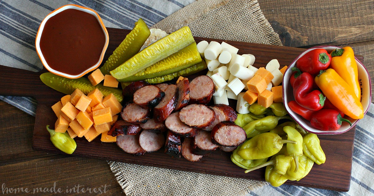 memphis bbq sausage and cheese platter home made interest