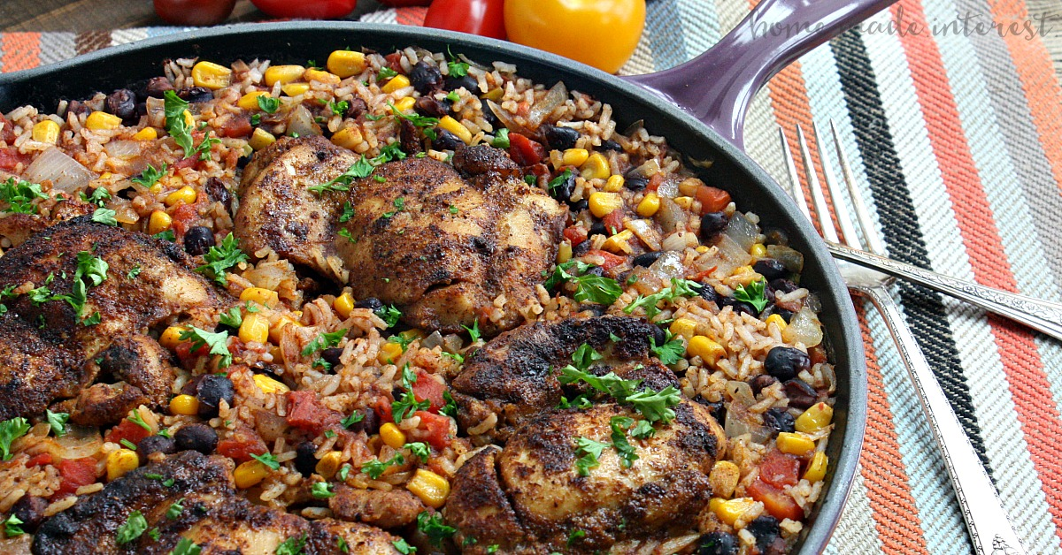 One Pot Mexican Chicken And Rice Home Made Interest
