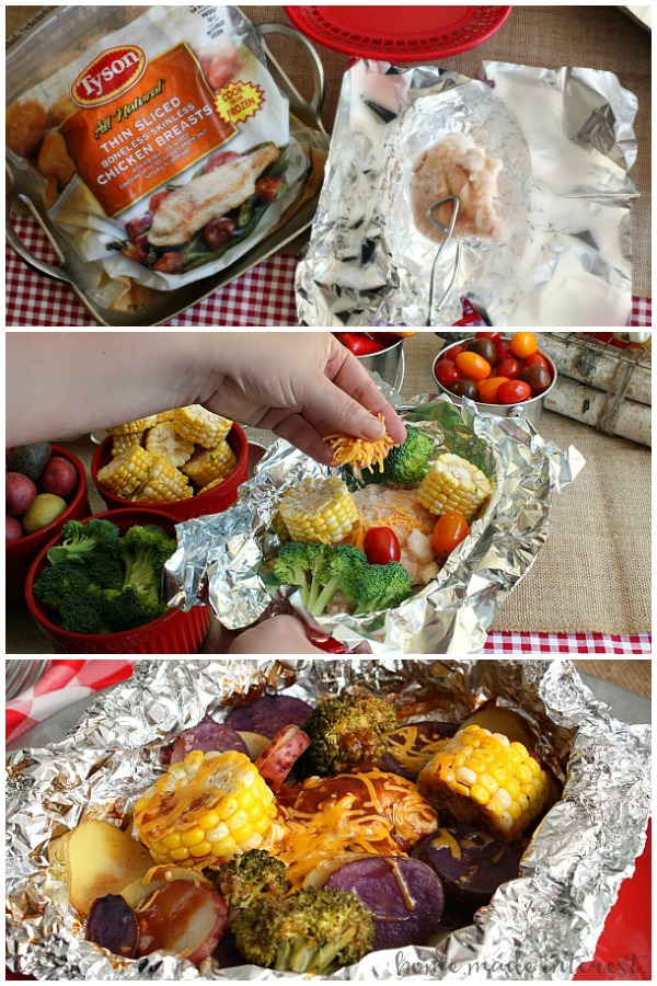 Cheddar Bbq Chicken Foil Packet Meal For A Camping Party Home
