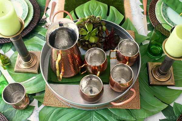 A Moscow Mule served in a beautiful copper mug is the IT drink right now and this Citrus Moscow Mule recipe is perfect for an easy Father's Day brunch or just a summer drink recipe for sipping on the porch.
