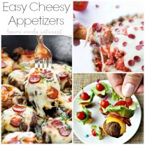 Easy Cheesy Appetizers that make great parties food. Kids and adults love cheese! Quick and simple appetizers for any occasion.
