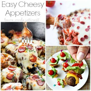Who doesn't love cheese? We've got easy cheese appetizer recipes for every type of party. From pizza to stuffed mushrooms cheese appetizers are perfect for all of them! Quick and simple appetizers for any occasion.