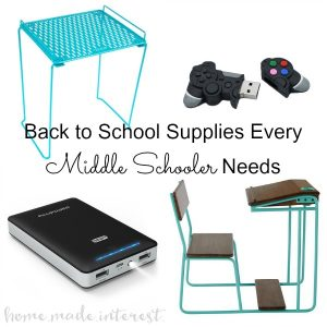 Everything a middle school kid needs for the classroom, organization and being cool! A list for middle schoolers for both girls and boys. Back to School Supplies for Middle School - Boys & Girls