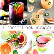 Refreshing and fun summer drink recipes that are nonalcoholic and alcoholic. These are summer drinks that kids and adults can enjoy. Make them for your next summer cookout or bring them to a picnic!