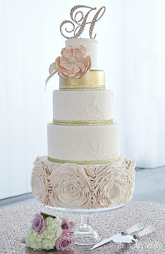 wedding cake ideas homemade gold leaf wedding cakes home made interest 22921