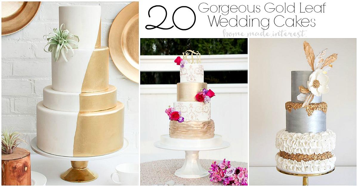 Keto Wedding Cake Recipe: Gold Leaf Wedding Cakes