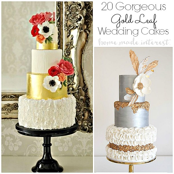 Gold Leaf Wedding Cakes Home Made Interest