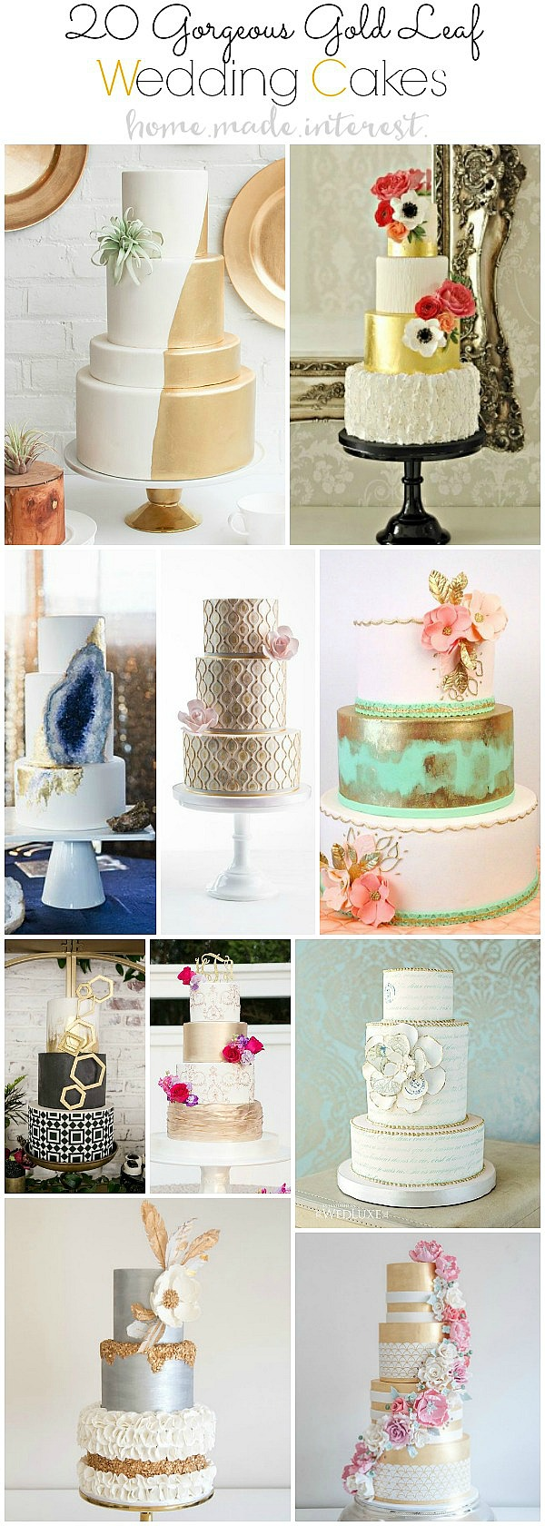 These Beautiful Gold Leaf Wedding Cake Ideas For Your Trendy Cakes With Decorated