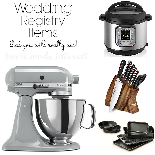 what to put on a wedding registry home made interest