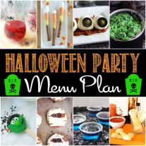 Get ready for your Halloween Party with these fun and spooky Halloween recipes that kids and adults are going to love! From mozzarella eyeballs, to Frankenstein Oreos, we've got Halloween party recipes from start to finish! This Halloween party menu plan is going to make hosting a Halloween party easy!