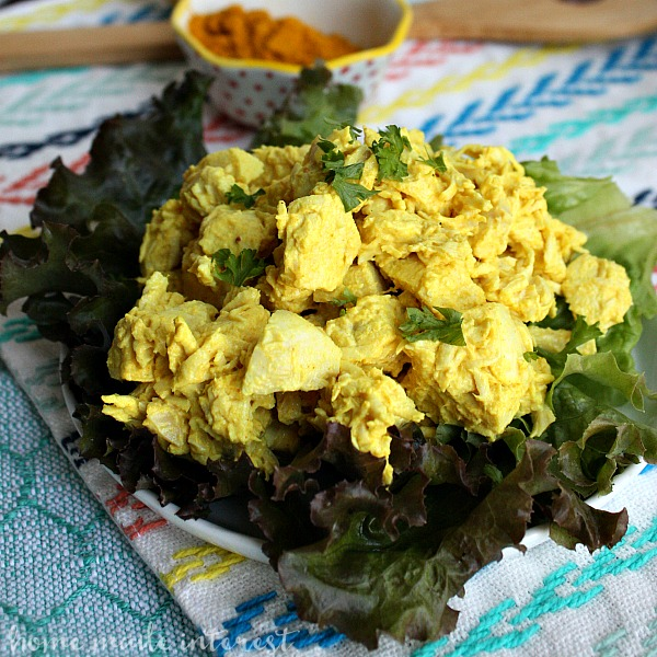 Turmeric chicken salad home made interest this easy turmeric chicken salad is full of flavor and healthy benefits like antioxidants it forumfinder Images