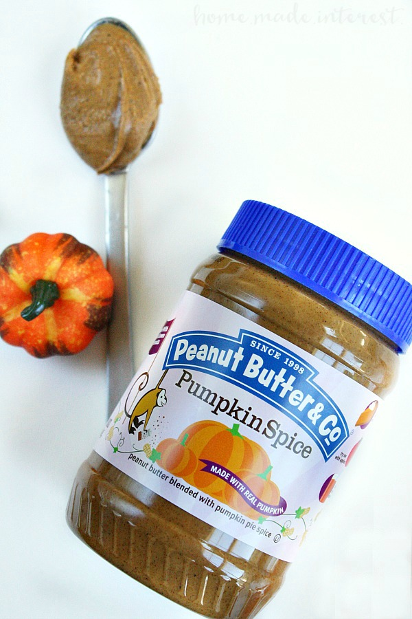 pumpkin spice peanut butter is perfect for fall recipes!