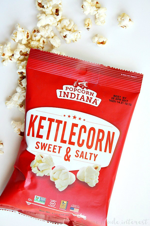 Sweet and Salty Kettle corn is a great snack