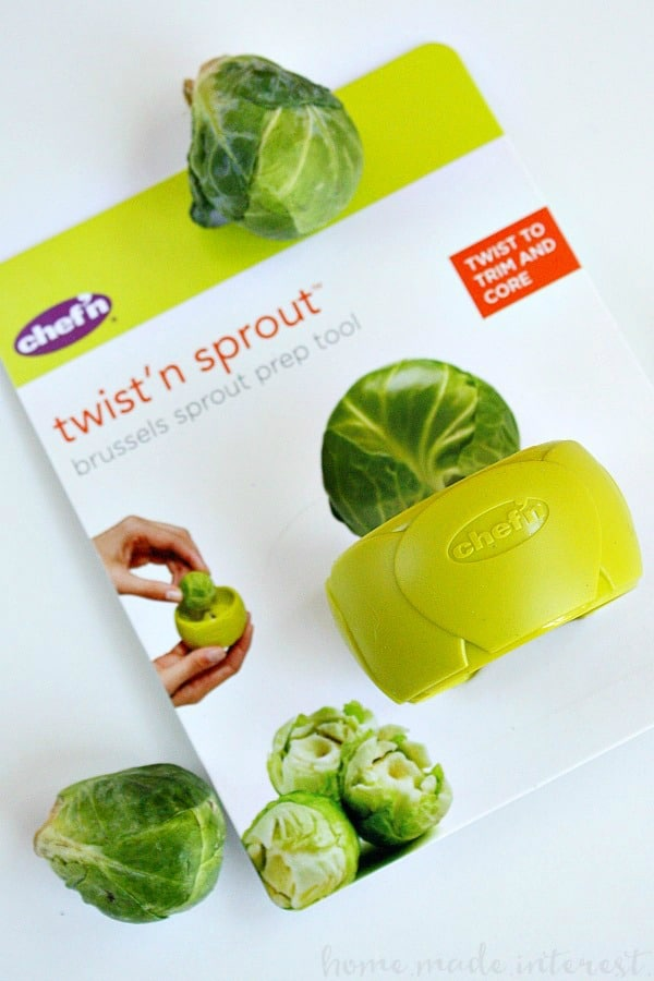 Make dinner prep easy with this simple prep tool for coring brussels sprouts