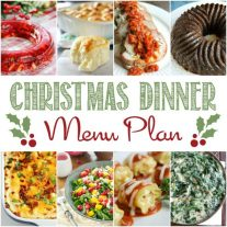 Get ready for the holidays with this Christmas dinner meal plan. Your whole christmas dinner menu is planned for you appetizers, main dishes, drink, desserts. We have it Christmas dinner recipes for everyone!
