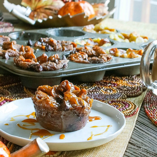 These muffin tin bread puddings are an easy bread pudding recipe that makes individual servings! These are perfect for Thanksgiving dessert or Christmas dessert because you can make multiple flavors in one muffin tin. I've made two of my favorite flavors Sugar Cookie Bread Pudding and Caramel Mocha Bread Pudding. Both are amazing!