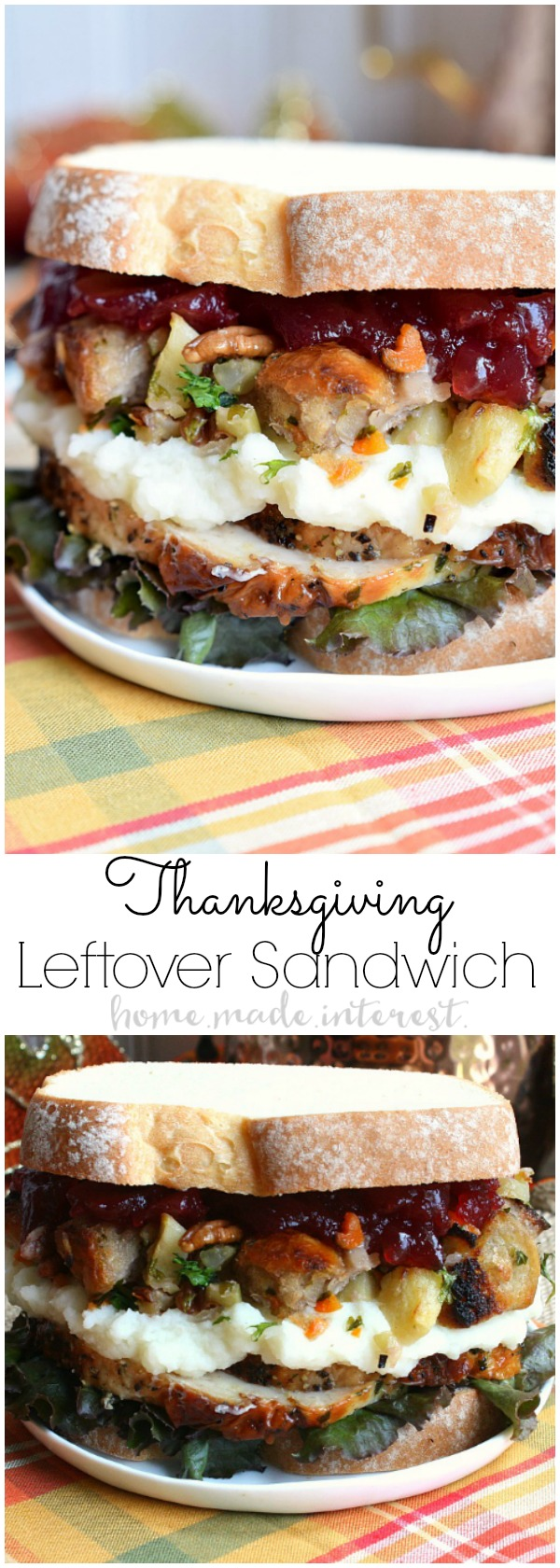 Thanksgiving leftovers sandwich home made interest for Leftover thanksgiving turkey recipes