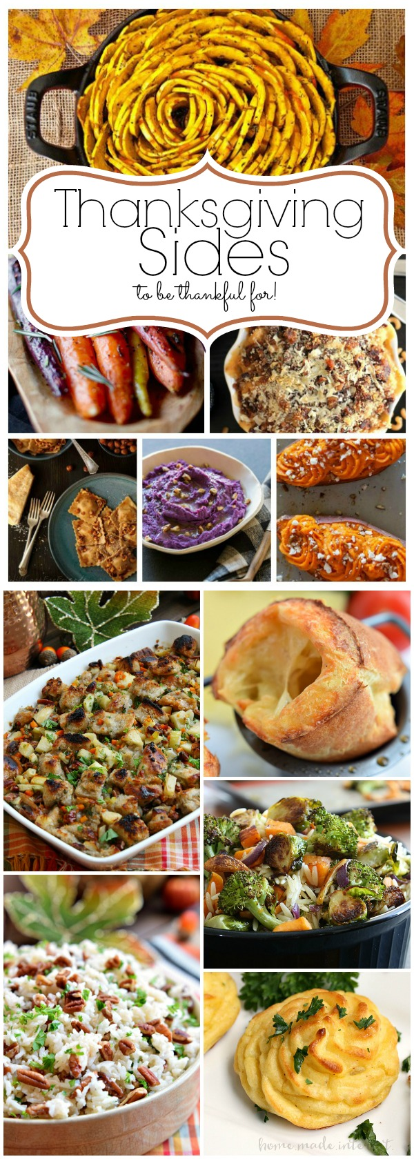 Some of the best Thanksgiving side dish recipes you can find. Everything from roasted vegetables, to mashed potatoes. These Thanksgiving sides are going to make Thanksgiving dinner amazing.