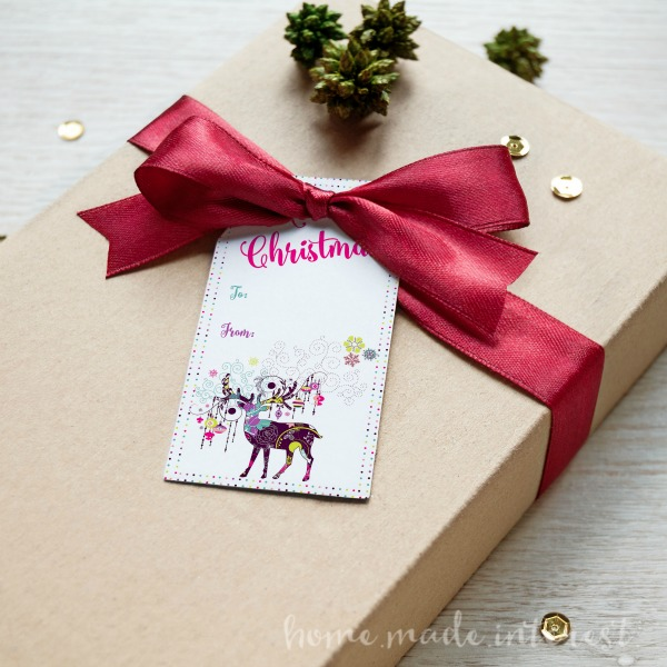it is so easy to make your own christmas or holiday gift tags this year