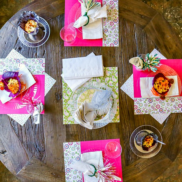 Make Easter brunch easy with a simple Easter table setting