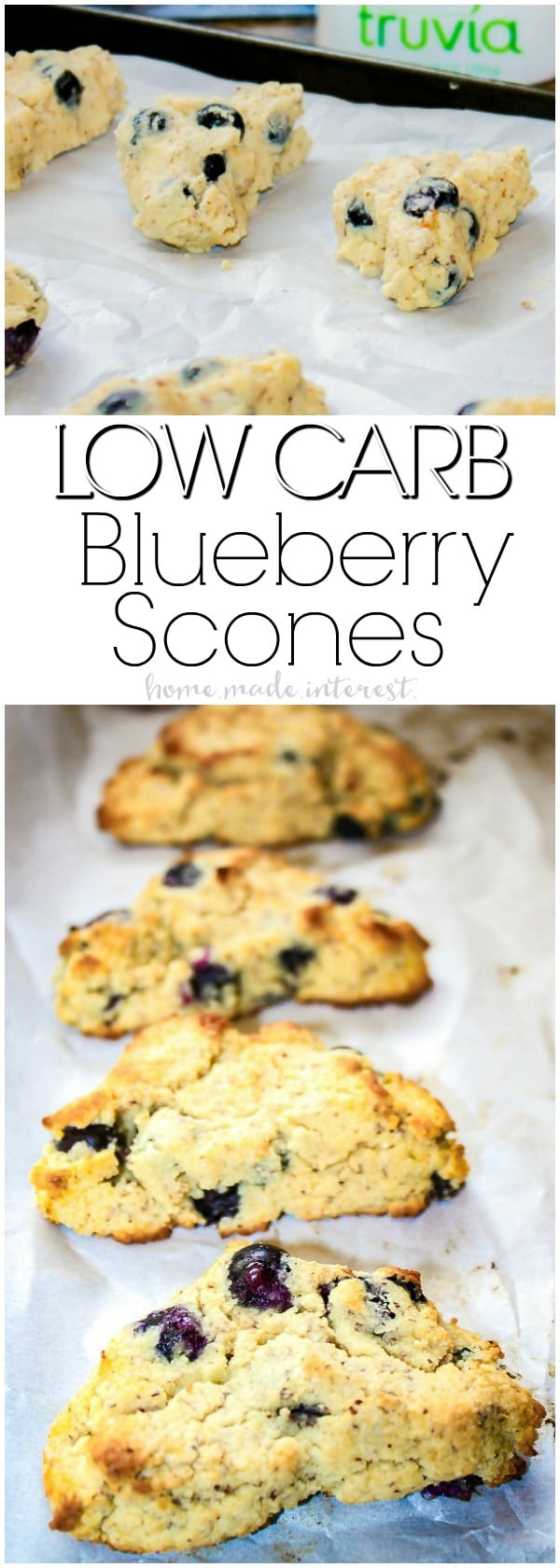 Low Carb Blueberry Scones | These low carb blueberry scones are a low carb baking recipe that makes an amazing low carb snack! Satisfy your sweet tooth with low carb blueberry scones that are only 5 net carbs! If you are on a low carb diet this is a low carb recipe you don't want to miss.
