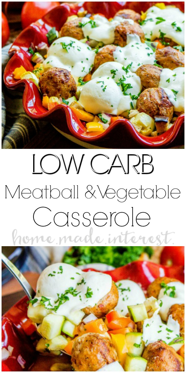 Low Carb Meatball and Vegetable Casserole - Home. Made. Interest.