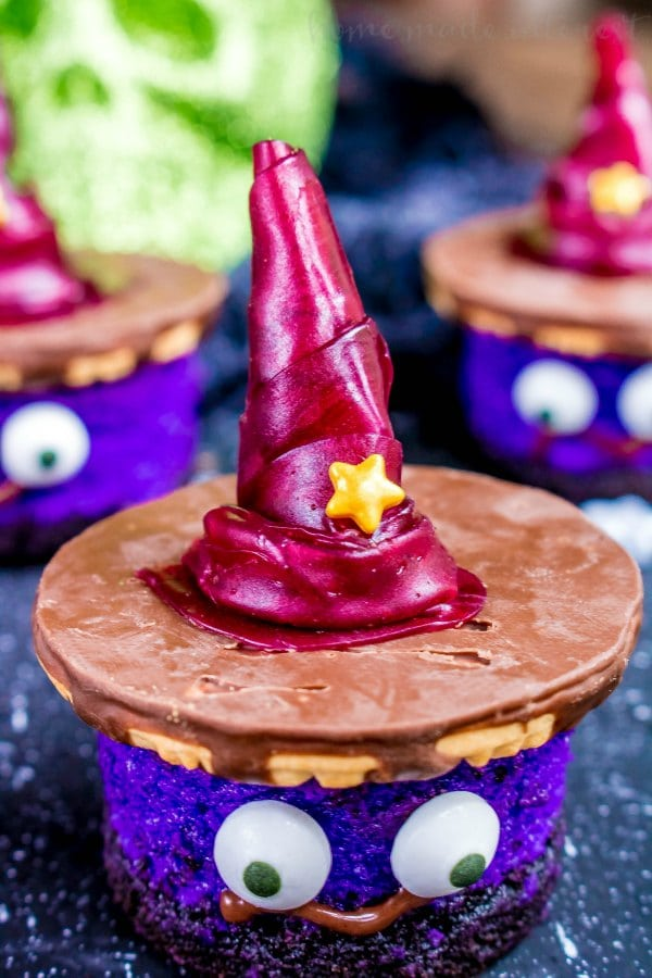 edible witch's hat dessert