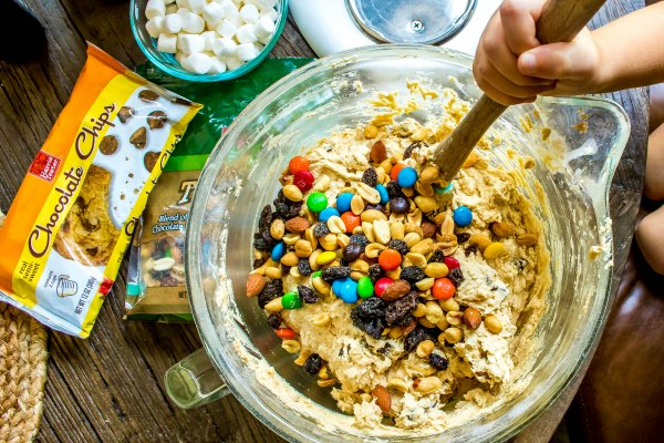 M&M trail mix cookies