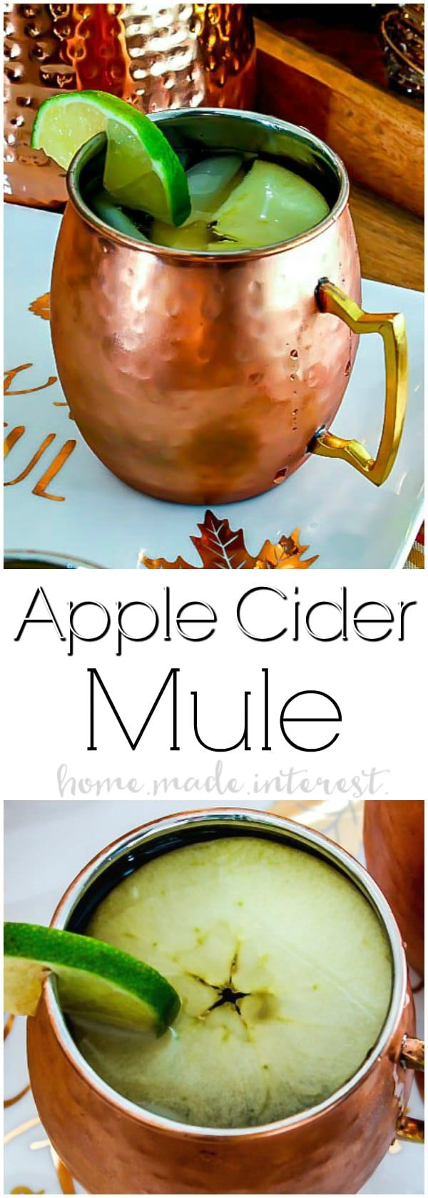 Apple Cider Mule - This Apple Cider Mule is going to be your favorite fall cocktail recipe! Apple Cider, vodka and ginger beer combined to make a fall moscow mule. Need a Halloween party cocktail or Halloween drink recipe? Your friends are going to love this fall cocktail recipe!
