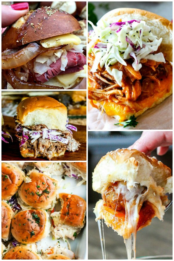 The best slider recipes to feed a crowd and any party. Perfect party appetizers for your football and Super Bowl party. Easy and quick to make.
