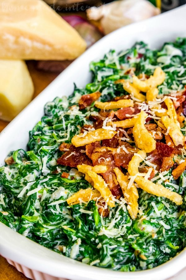 Creamed Spinach with Bacon - Home. Made. Interest.